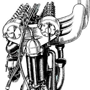 燃焼室形状とバルブレイアウトの話 [ 8 ] – 60年前と100年前のDOHC4バルブ